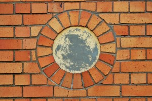 close-up-of-brick-circle
